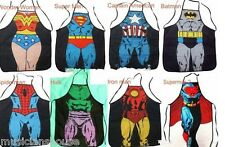 SUPERHERO APRON CHEF NOVELTY COOK BBQ BIB MARVEL CHRISTMAS PARTY GIFT PRESENT