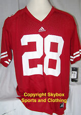 New - Wisconsin Badgers #28 Adidas Red Home Football Jersey - Men's Sizes