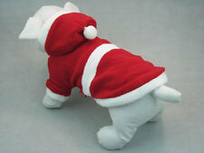 Red Christmas Santa Jumper or hoody for Dogs and Puppies Warm for Winter