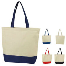 """Cotton Canvas Reusable Grocery Beach Gym Shoe Shopping Tote Totes Bag Bags 17"""""""