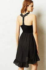 Anthropologie Looped Racerback Chemise Size L, Black Mixed Fabric, Lili's Closet