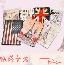 Paris Eiffel Tower Girl Folwer Hold Leather smart cover Case For Mini iPad New
