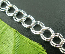 Wholesale New Silver Tone HOTSELL Double Loops Chains Findings 4x5mm