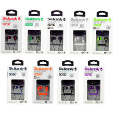 HOT Skullcandy 50/50 Stereo Headphone Earbuds With Mic&Remote for iPod iPhone