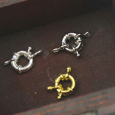 2 Pcs Silver/Gold Plated Spring Ring Clasps For DIY Jewelry Necklace / Bracelet