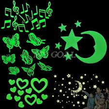 Home Wall Glow In The Dark Stars Stickers Baby Kid's Bedroom Nursery Room Decor