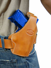 New Barsony Tan Leather Pancake Gun Holster for Smith&Wesson Compact 9mm 40 45