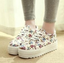 2014 spring women sneaker canvas shoes  flowers platforms sneakers shoes