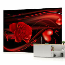 WALL MURAL PHOTO WALLPAPER (300VEVE) Red Hearts Art Abstract