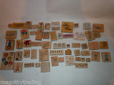 Rubber Stamps Wood Mounted Stampin Up, Hero Arts, Rubber Stampede, Etc. Pick One