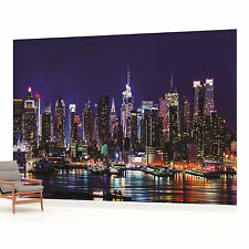 New York City Skyline at Night 7 Photo Wallpaper Wall Mural (CN-1310VE)