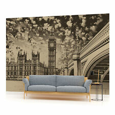London Houses of Parliament Vintage Photo Wallpaper Wall Mural (CN-845VE)