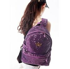 Hot Sale Fashion Glitter Sequin Crown Backpacks Bookbags Bags For Girls Students