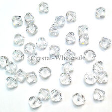 Crystal (001) 10mm Swarovski Elements 5328 / 5301 Xilion Bicone Beads Clear