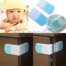 1/3 Baby Kid Fridge Cupboard Cabinet Door Right Angle Safety Drawer Lock Latches