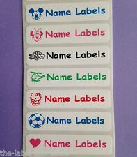50 Sew in/Iron on & 50 Stick on Waterproof School Kids Name Labels Tapes Tags