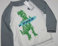 baby Gap NWT Boy's 12 18 Mo. 2T 4T LS Dinosaur Gray Swim Top Rash Guard - UPF 35