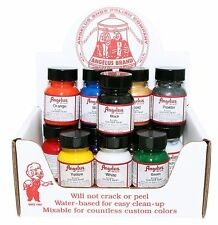 Angelus Acrylic Paint for leather 1 oz bottle- SEVERAL COLORS