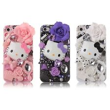 For Apple iphone 4/4S 3D Luxury Bling Crystal Fairy Hello Kitty Diamond Case