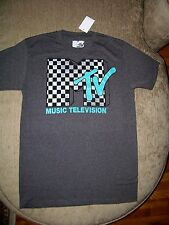 Licensed MTV Music Television Vintage Logo Charcoal T Shirt_ Brand new with tags