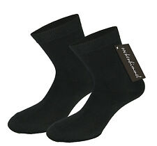 Women's Socks In Black With Lots Of Cotton 10pc Pack Sock Medium Strength Band