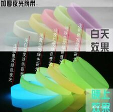 Silicone Sport Bracelets Wristband Luminous Glow in the Dark Colourful Cuff New