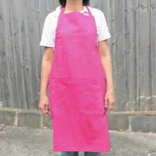 Adjustable Plain Cooking Chef Craft Kitchen Butcher Waiter Apron Full Bib | Bulk