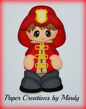 Craftecafe Firefighter Boy premade paper piecing scrapbooking page album Mindy