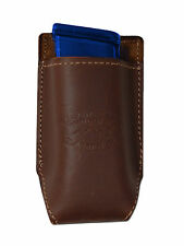 NEW Barsony Brown Leather Single Magazine Pouch Colt Kimber Compact 9mm 40 45