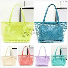 Clear Plastic Transparent  Work Tote Shoulder Jelly Beach All Purpose Bag Hand