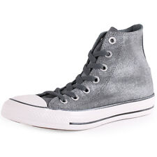 Converse Chuck Taylor Sparkle Wash Hi Womens Grey Trainers New Shoes All Sizes