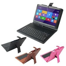 """Luxury Brand Leather Keyboard Case Cover For 10.1"""" Haier W1048 Tablet PC Mid KB"""