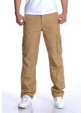Cotton MENS CASUAL MILITARY ARMY CARGO CAMO COMBAT WORK PANTS TROUSERS 30-44 new
