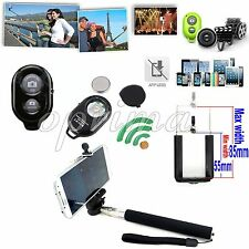 Bluetooth Selfie Remote Control Shutter+Tripod Holder Monopod For iPhone 5S 5C 4