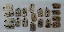 PENDANT CHARM Jewelry Brass Expressions dog tag hope imagine trust dream blessed