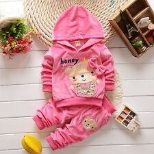 "2pcs New baby kids girls spring suit outerwear & pants set girls outfits""bear"""