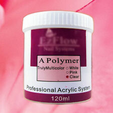 120g Clear/Pink/White Color Nail Art Crystal Acrylic Powder Polymer Builder Tips