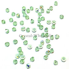 3mm Chrysolite AB (238 AB) Swarovski crystal 5328 / 5301 Loose Bicone Beads