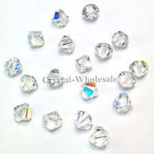 3mm Crystal AB (001 AB) Genuine Swarovski crystal 5328 / 5301 Loose Bicone Beads