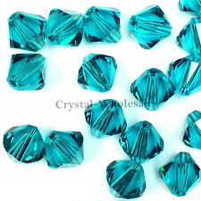 5mm Blue Zircone (229) Genuine Swarovski crystal 5328 / 5301 Loose Bicone Beads