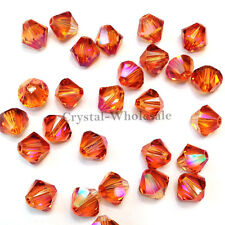 5mm Crystal Astral Pink Genuine Swarovski crystal 5328 / 5301 Loose Bicone Beads