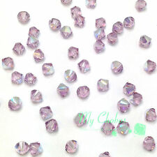 5mm Light Amethyst AB (212 AB) Swarovski Crystal 5328 / 5301 Bicone Beads