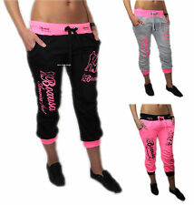 Femme 7/8 Pantalon De Jogging Survêtement Court Short Course Sport Fitness Fluo