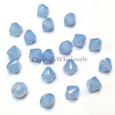 6mm Air Blue Opal (285) Genuine Swarovski crystal 5328 / 5301 Loose Bicone Beads