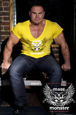 Mass Monster Bodybuilding Fitted, Gym, Rocker MMA V-Neck T-Shirt - ZYZZ