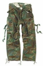 SURPLUS VINTAGE  FATIGUE COMBAT TROUSERS US ARMY WORKWEAR CARGO PANTS CAMO