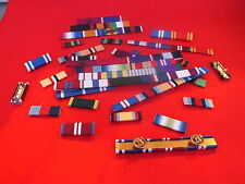 MEDAL RIBBON BAR - 5 SPACE FULL SIZE - PINNED or STUDDED or SEWN