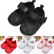 Bow Bling Flash Walking Skidproof Soft Outsole Baby Girl Toddler Shoes 4 Colors
