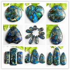Wholesale Mixed Shape blue Sea Sediment Jasper & Pyrite Pendant Beads