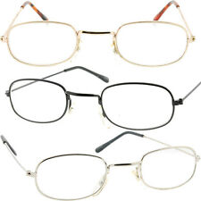 Mens or Womens Clear Lens Glasses Rectangle Lens Small Wire Frames Metal